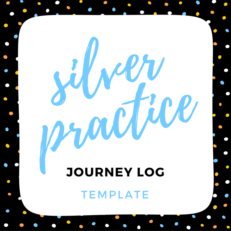 IMAGE silver practice log template link