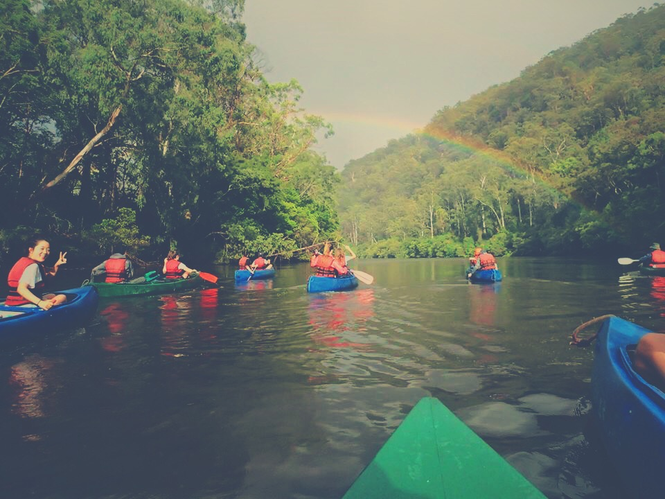 Canoeing on Colo River